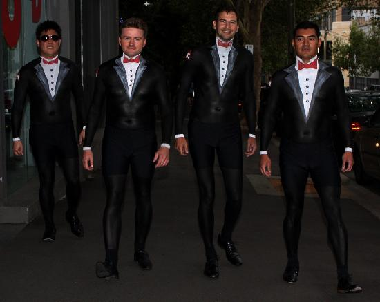 Bodypainted tuxedo suits hit the mark for Momentium ...